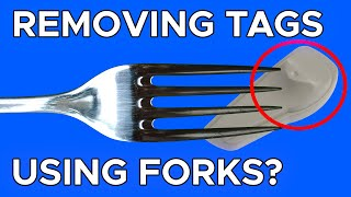 Removing Security Tags Usİng Forks? #shorts