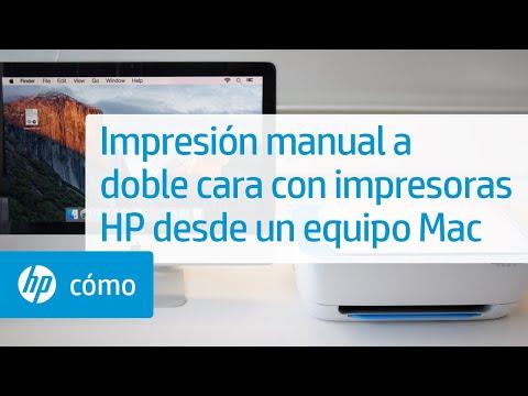 Impresión manual a doble cara con impresoras HP desde un equipo Mac | HP Printers | HP