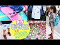 Easy DIY Fall Clothes How to Upcycle Hand Me Downs For Kids Resize Oversized T-shirt NO SEW!