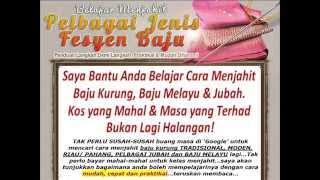 Pola Dan Cara Menjahit Baju Kurung Pahang Lengkap