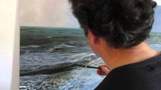 Artist Alfredo Navarro Painting Seascapes, Part 2