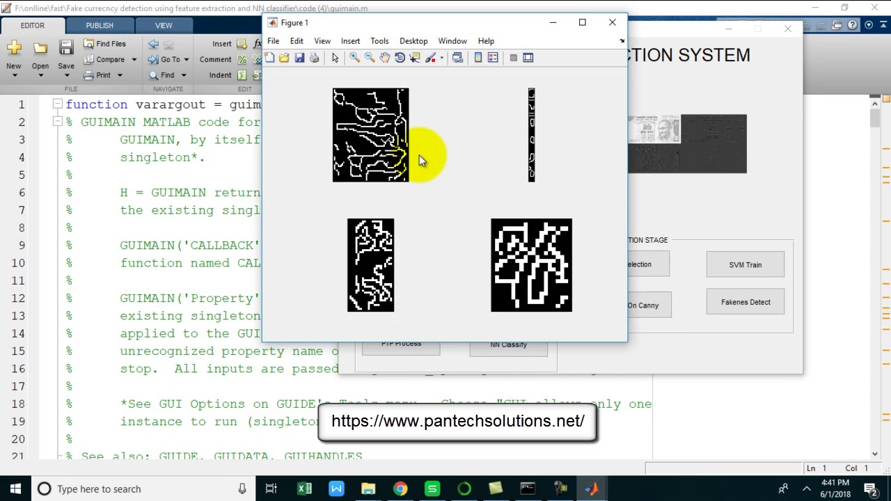 Fake Currency Detection using Matlab