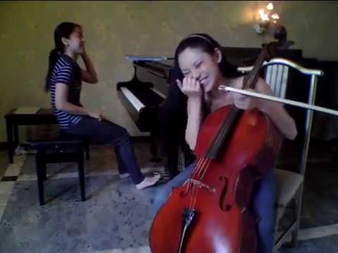 Super Fast Flight of the Bumble Bee by Tina Guo, cello and Christine Utomo, piano at Rehearsal