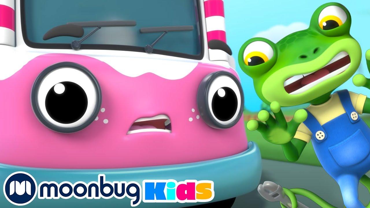 Rocket-Powered Ice Cream Truck | Gecko's Garage  | Kids Cartoons & Nursery Rhymes | Moonbug Kids
