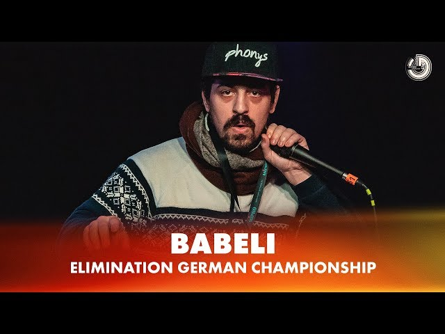 BABELI | ELIMINATION | German Beatbox Championship 2018