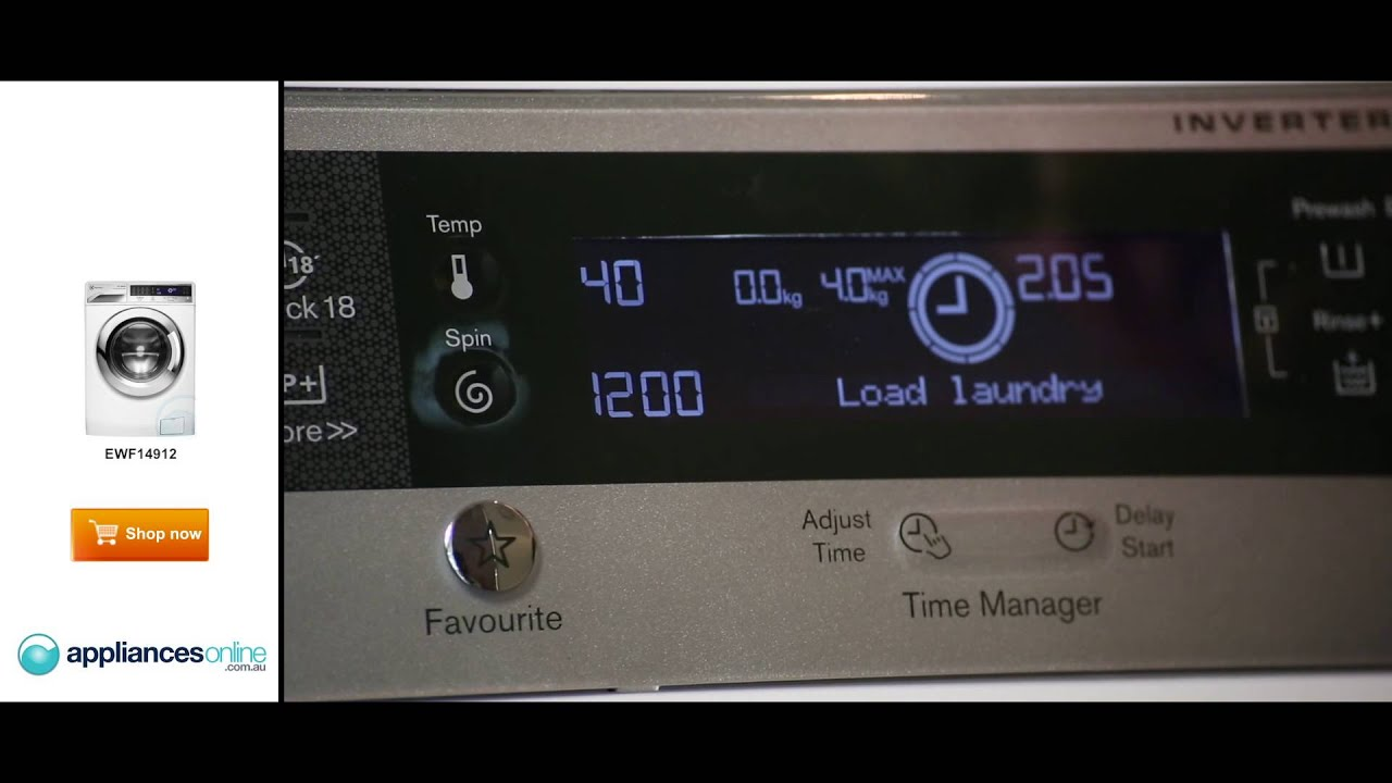 electrolux 9kg front loader. view an expert explaining the 9kg ewf14912 electrolux front load washing machine - appliances online youtube loader t