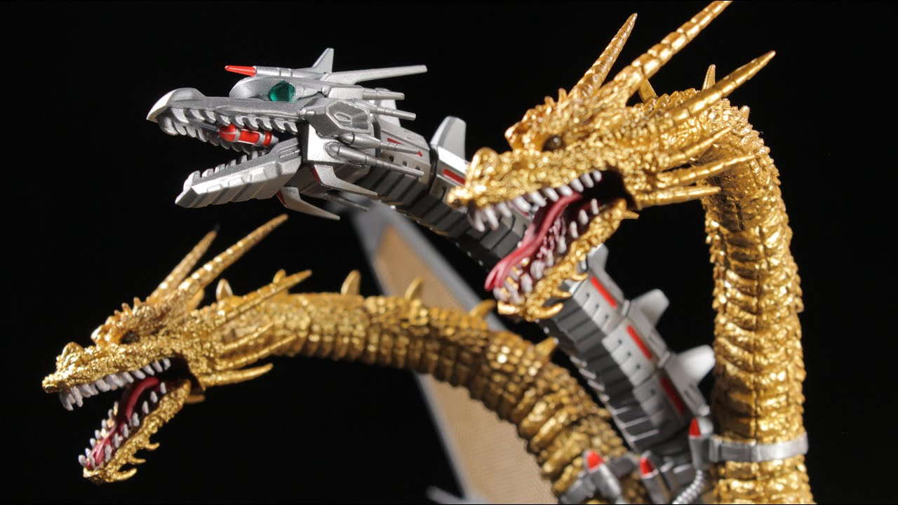 S H Monsterarts Mecha King Ghidorah Review Youtube