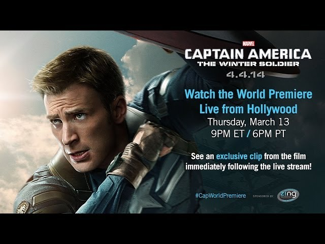 Marvels Captain America: The Winter Soldier - Live Red Carpet Trailer