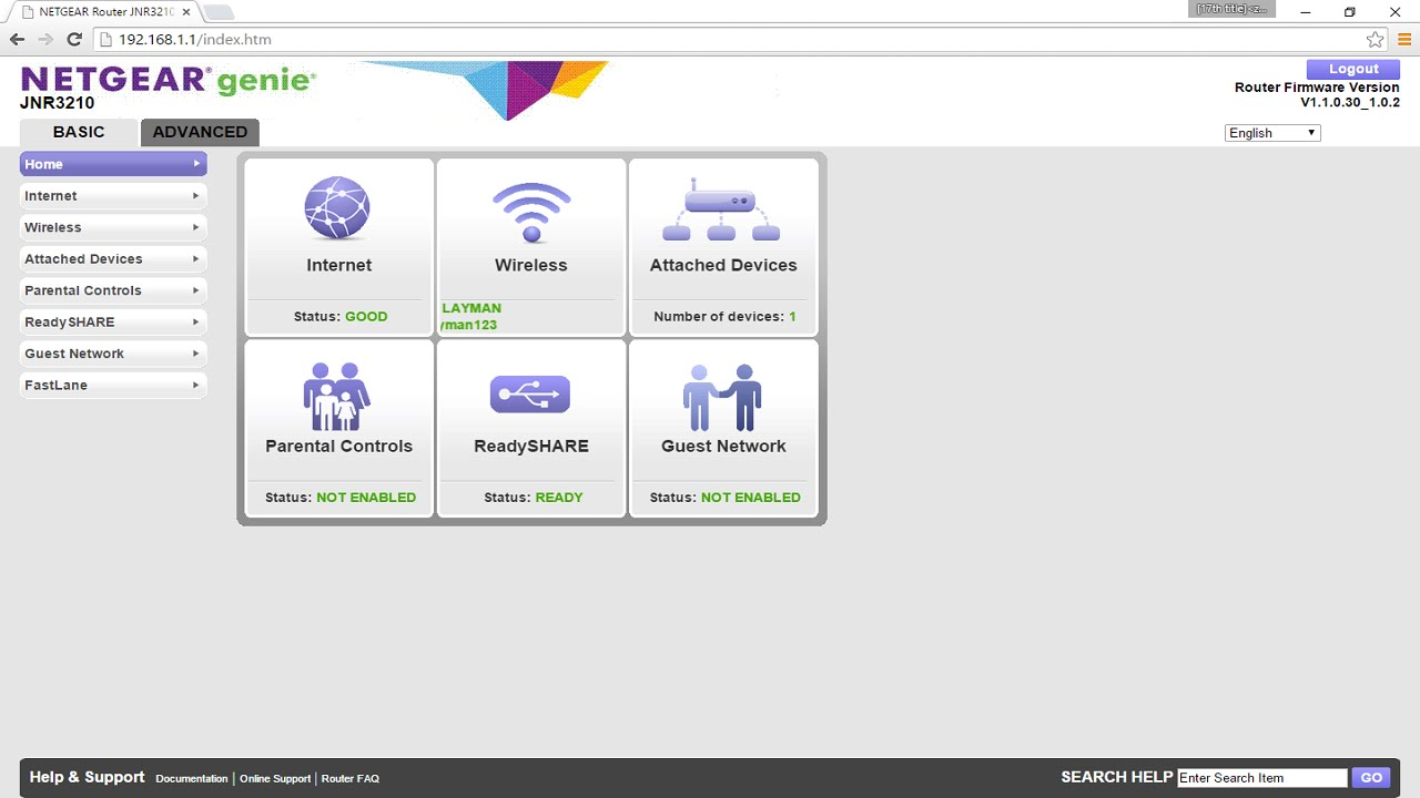 Basic Netgear Router Configuration (Netgear N300 Gigabit Router JNR3210) #2