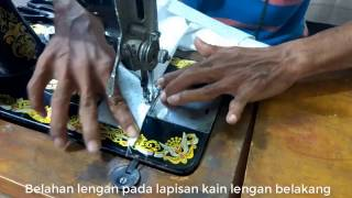 Cara membuat pola dan menjahit baju kemeja anak laki laki BAGIAN IV