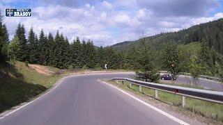 Drumul cu masina din Rasnov pina in Poiana Brasov