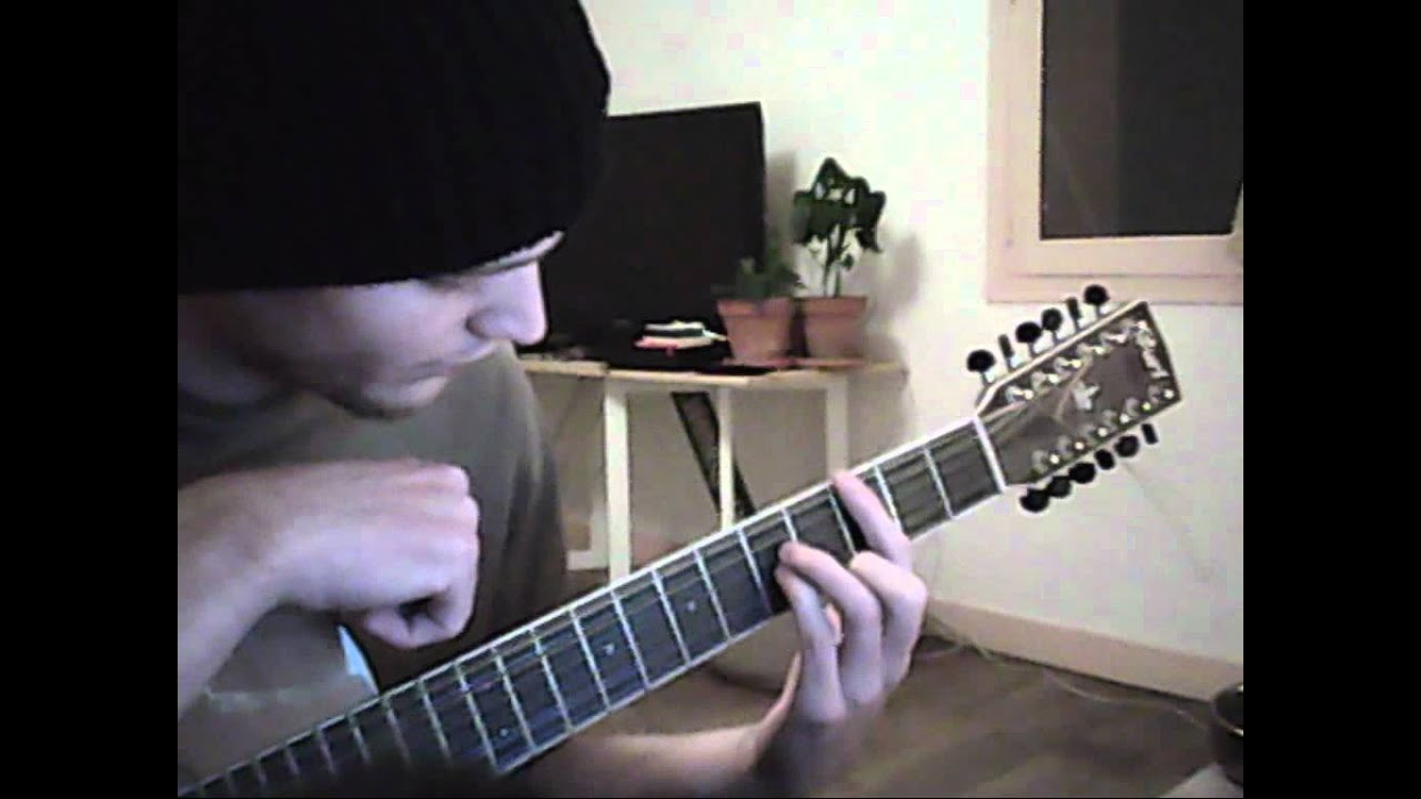 deftones knife party acoustic tutorial step by step - YouTube