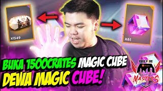DAPET 61 MAGIC CUBE! DEWA MAGIC CUBE BUKA 1500 CRATES BAKAR DIAMONDS! - FREE FIRE INDONESIA