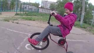 Самодельный детский трёхколёсный велосипед