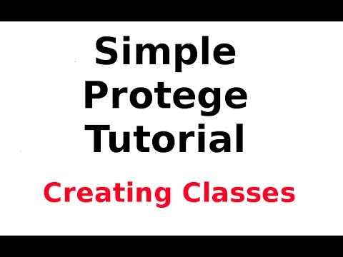 A Simple Protege Tutorial 2: Creating the Ontology Classes