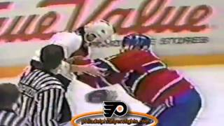 026 Nov 15, 1990 Lyle Odelein vs Craig Berube Montreal Canadians vs Philadelphia Flyers
