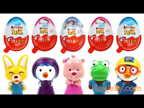 Sing along Pororo Baby Karaoke Toy Learn Colors Super Surprise Kinder Joy Egg Toys Baby Finger Song