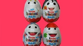 4 x Kinder Maxi EI Special Edition Baby Looney Tunes Kinder Surprise Maxi Eggs