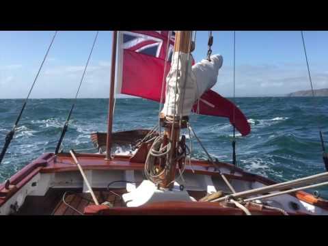 Cleone sails home