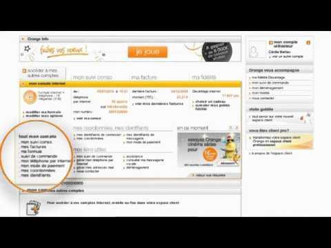 orange assistance votre compte internet sur youtube. Black Bedroom Furniture Sets. Home Design Ideas