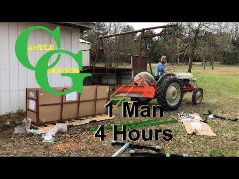 You CAN build the Harbor Freight sawmill by YOURSELF in 1 day - Castle Grounds Vid #2