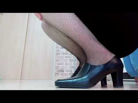 ストッキング重ね履き【ロングバージョン】 爪先 つま先 生足 太もも パンスト 網タイツ フェチ stockings pumps