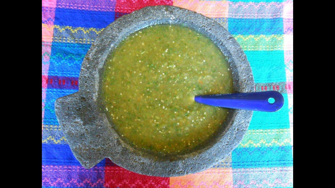 Mexican Salsa Verde. Tomatillo Green Salsa - Salsa Verde - YouTube