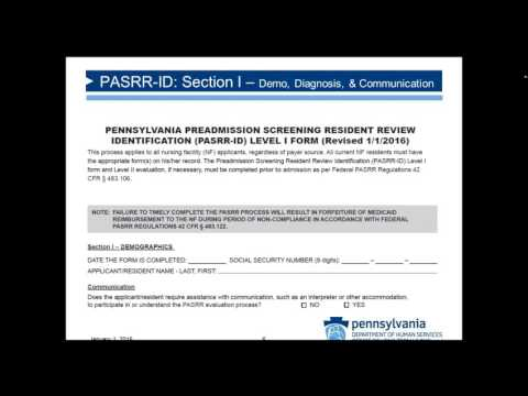 PASRR Forms and Process