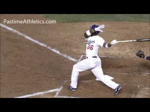 Yasiel Puig 1000 FPS Home Run Baseball Swing Hitting Mechanics LA Dodgers MLB Cuba Slow Motion Inst