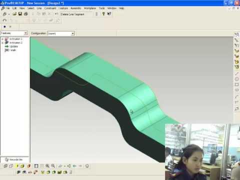 การสร้างชิ้นงานประกอบโต๊ะหมู่ ด้วยโปรแกรม  ProDESKTOP