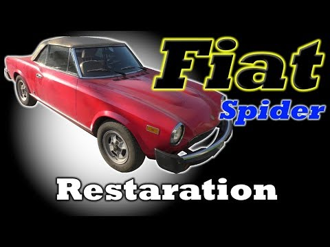 Fiat Spider. Body Restoration.