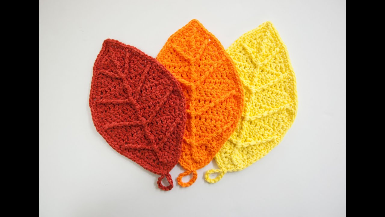 Crocheting Leaves : How to Crochet: Happy Autumn Leaves - YouTube
