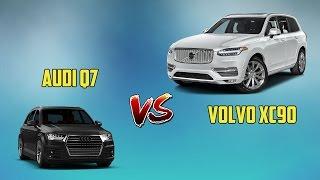 КРАШ ТЕСТ Audi Q7 и Volvo XC90 2016 год