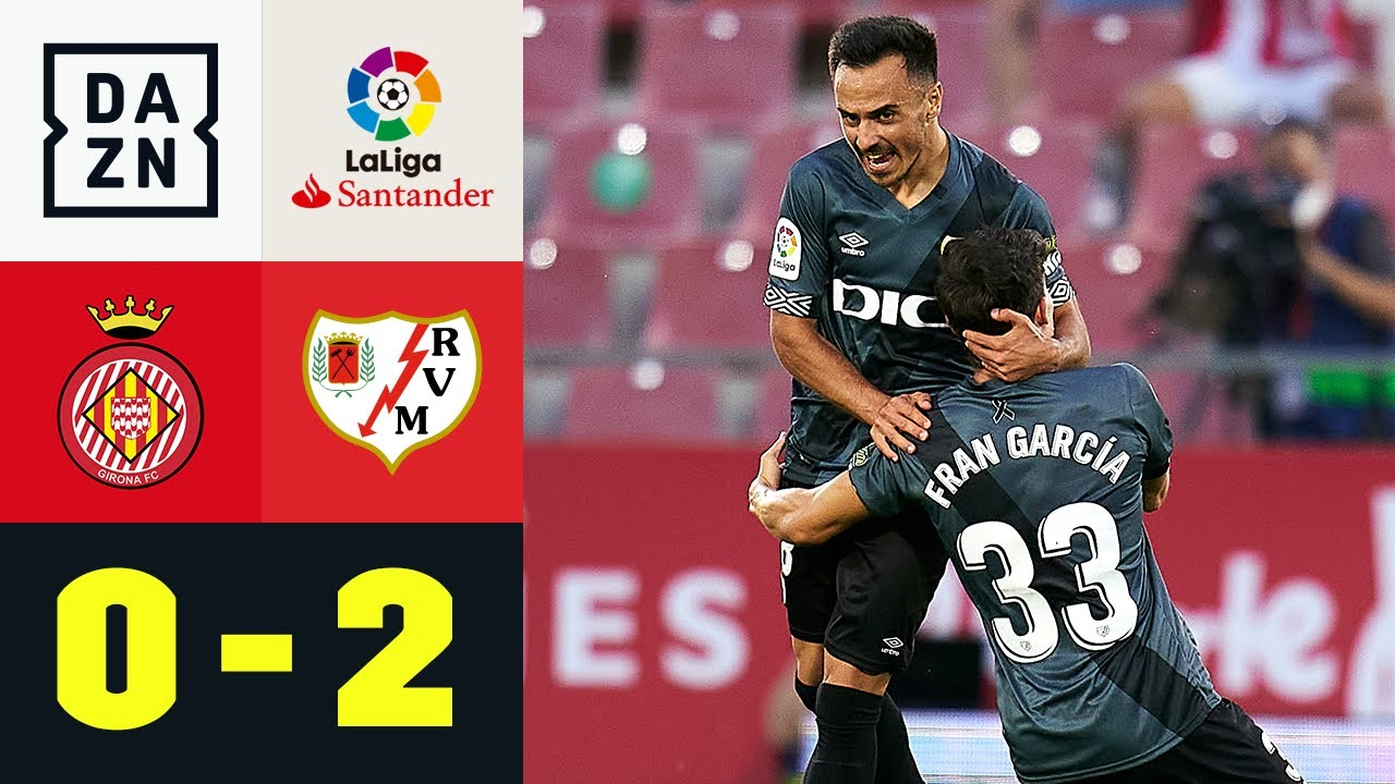 Garcia und Trejo schocken Girona! Rayo steigt auf: FC Girona - Rayo Vallecano 0:2   LaLiga2   DAZN