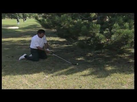 Amazing golf shot - Ballesteros on his knees