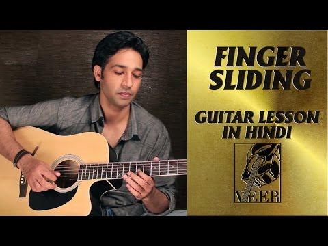 Slide Guitar lesson (finger sliding) for Beginners by VEER KUMAR