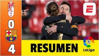 Granada 0-4 Barcelona. Dobletes de Lionel Messi y Antoine Griezmann. Koeman celebra | LaLiga