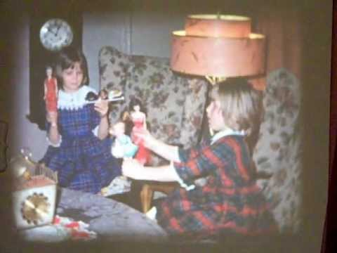 old home movie, 1964/65, antiques/siblings playing