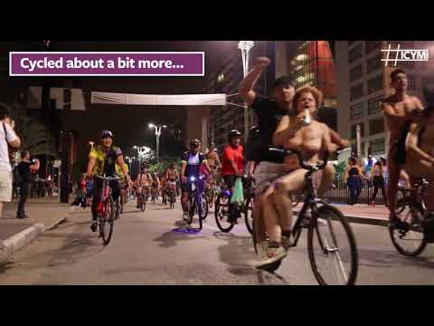 Naked cyclists pedal protest for green living in Brazil