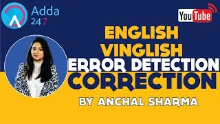Error Detection And Correction in English for Bank Exams