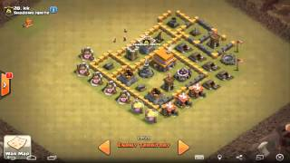 Clash of Clans Strategy of Attack on Multiplayer Battle For Loot on Day 4 Part 4