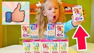 Відкриваємо 10 SWEETBOX іграшки ПОНІ квіткові і кристальні Розпакування коробочок СВІТ БОКС сюрпризи