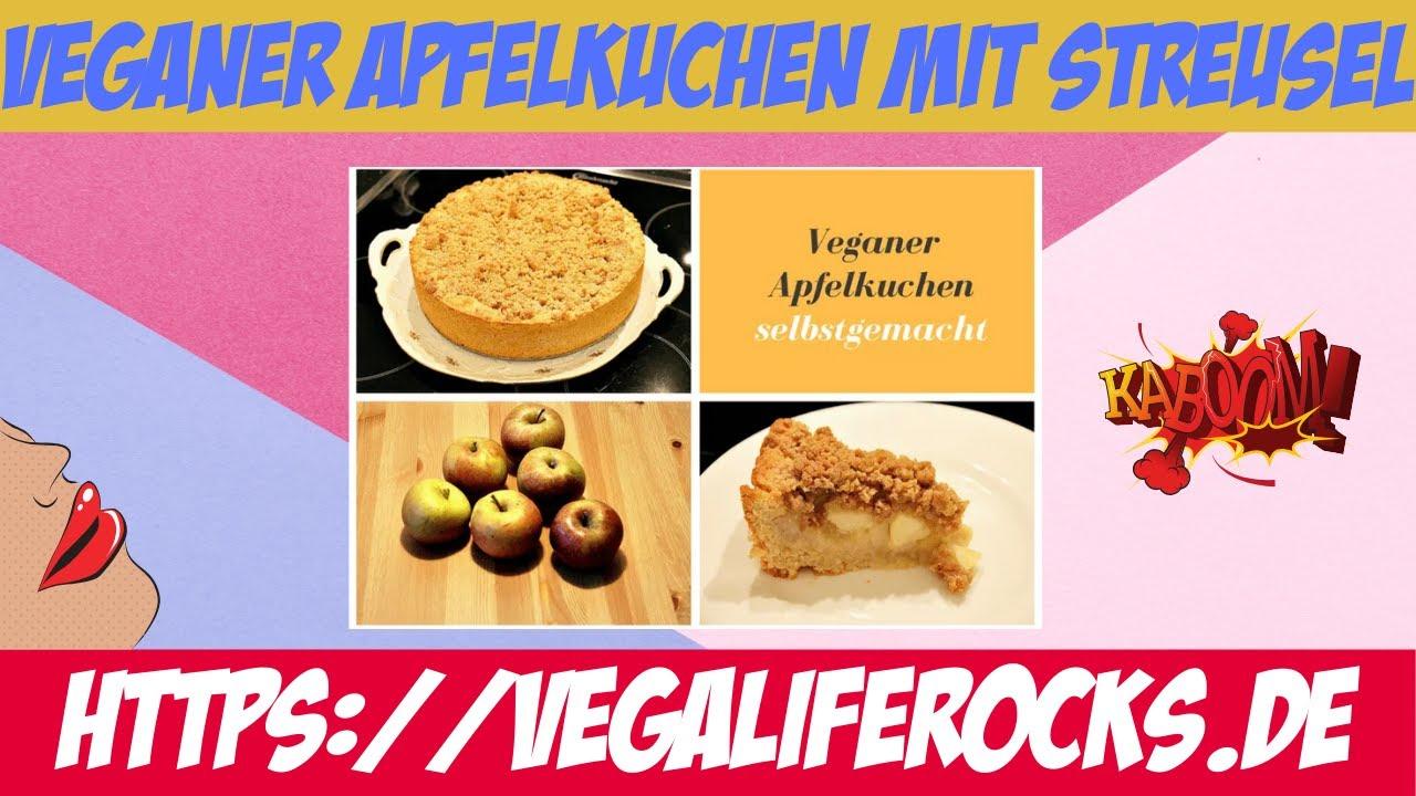 Veganer Apfelkuchen Mit Streusel Und Apfelmus Youtube