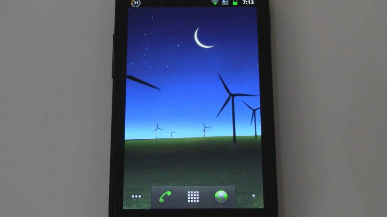 Get Galaxy S II Beach Windmill Live Wallpapers On Your Android