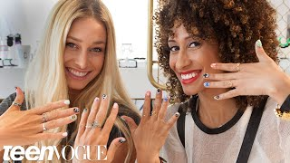 Back-to-School Statement Nails with Cait Barker - 3 Steps to - Teen Vogue