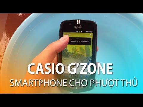 Casio G'zone - Trên tay chiếc điện thoại cho dân phượt hầm hố giá 2,6tr