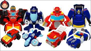 Transformers Rescue Bots Academy Toys - Hot Shot Whirl Wedge Hoist Heatwave Chase Boulder Blades
