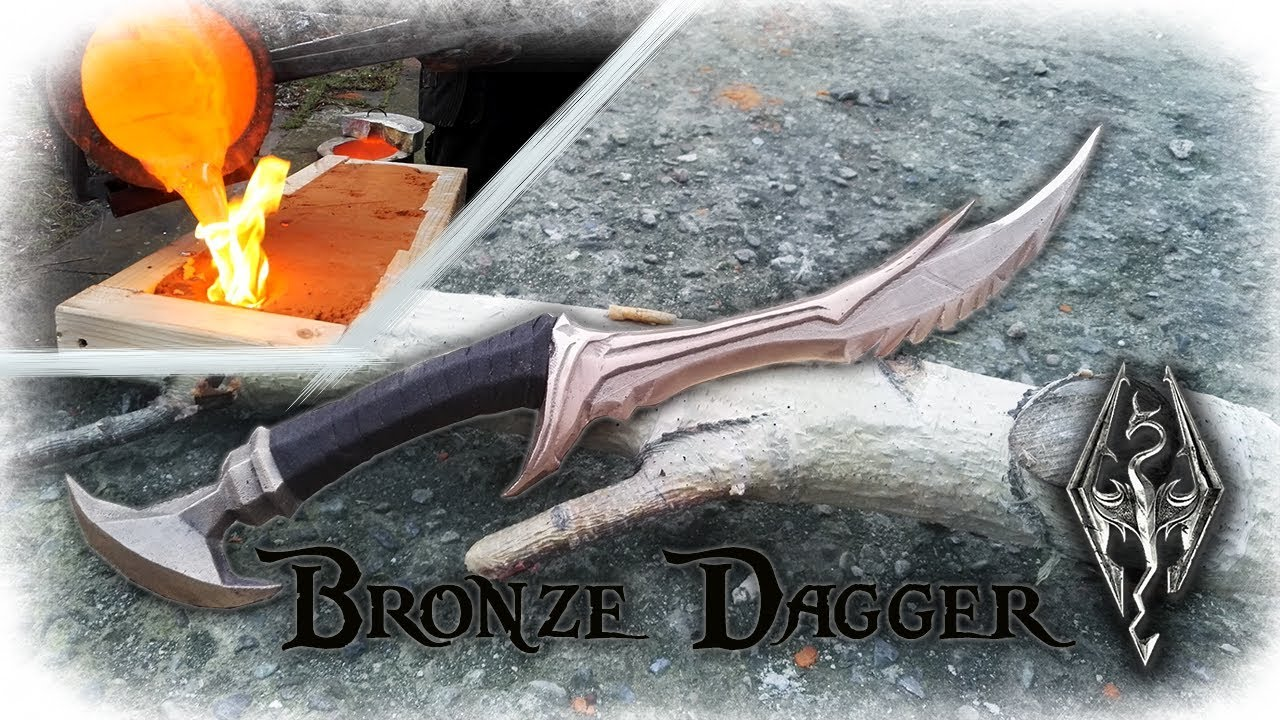 Casting A Bronze Dagger From The Game Skyrim Daedric