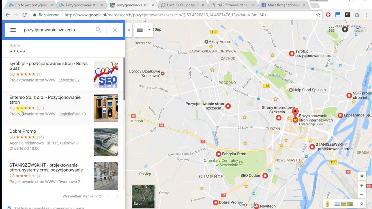 Jak Wypozycjonowac Firme W Google Maps Pozycjonowanie Lokalne Nap