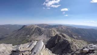 Wilson Peak Panorama - 10,705' - Madison Range - Montana